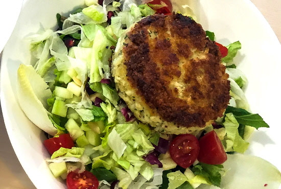 Crab Cake Salad..... Don't Miss Our Daily Salad Specials